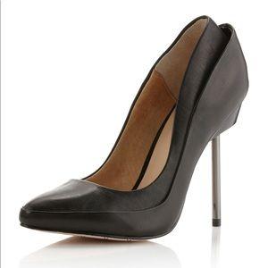 L.A.M.B black leather heels - size 8.5